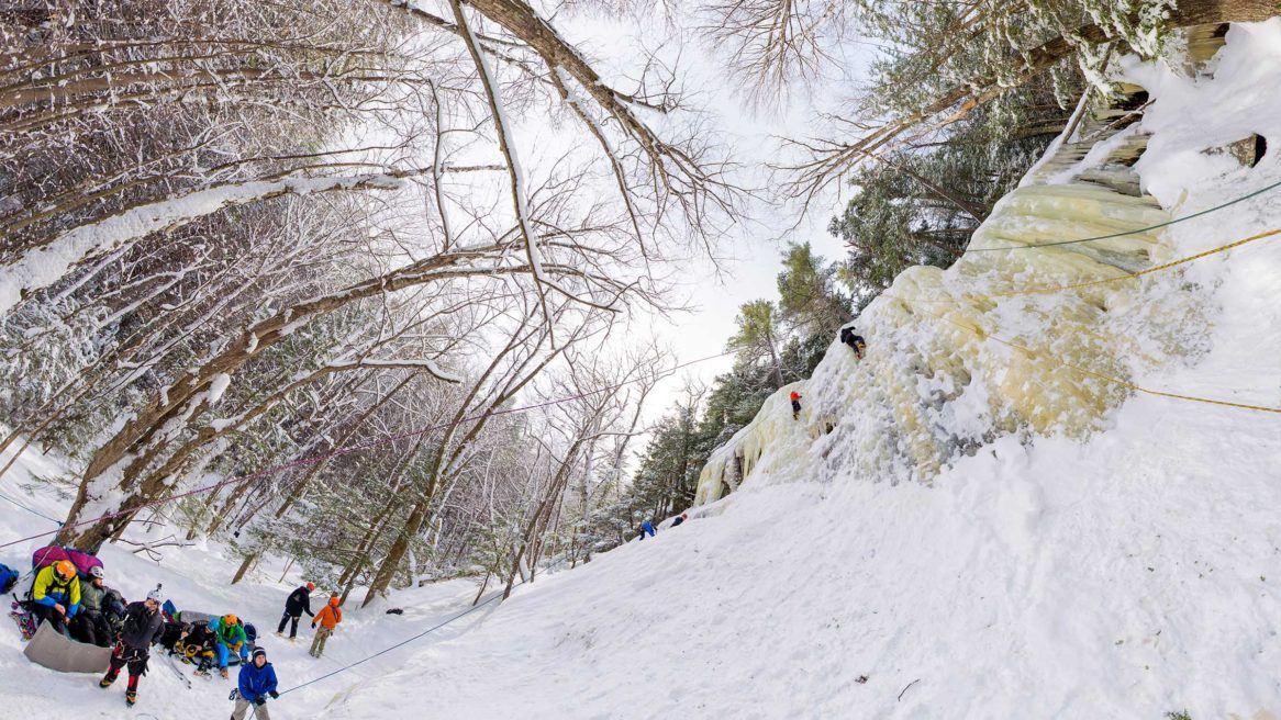 VR Photospheres – Ice Climbing in North Conway